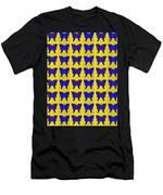 Serendipity Butterflies Brickgoldblue 27 Men's T-Shirt (Athletic Fit)