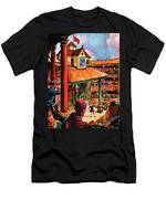 Shakespeare Performing At The Globe Theater Men's T-Shirt (Athletic Fit)