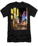 Shibuya Street At Night In Tokyo Men's T-Shirt (Athletic Fit)