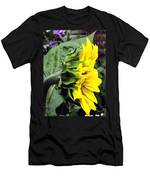 Silhouette Of A Sunflower Men's T-Shirt (Athletic Fit)