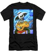 Skeleton Guitar Day Of The Dead  Men's T-Shirt (Athletic Fit)