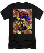 Spider And The Wolverine Men's T-Shirt (Athletic Fit)