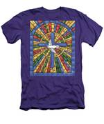 Stained Glass Cross Men's T-Shirt (Athletic Fit)