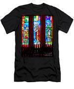 Stained Glass Triptych Men's T-Shirt (Athletic Fit)