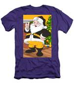 Steelers Santa Claus Men's T-Shirt (Athletic Fit)