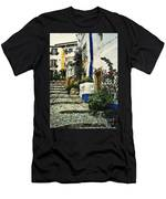 Step Street In Obidos Men's T-Shirt (Athletic Fit)