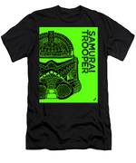 Stormtrooper Helmet - Green - Star Wars Art Men's T-Shirt (Athletic Fit)