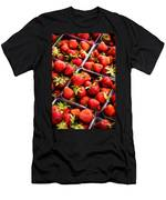 Strawberries With Green Weed In Plastic Containers  Men's T-Shirt (Athletic Fit)