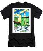 Sulina, Romania, Sailing Boat, Lighthouse Men's T-Shirt (Athletic Fit)