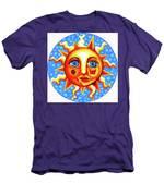 Sunface With Ladybug Men's T-Shirt (Athletic Fit)