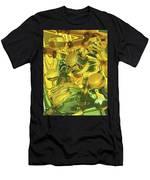 Sunflower Orb Glow Men's T-Shirt (Athletic Fit)