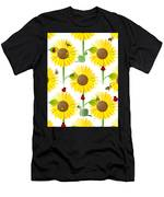 Sunflowers And Bees Men's T-Shirt (Athletic Fit)