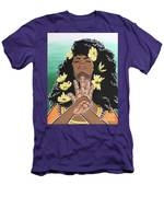 Sunflowers And Dashiki Men's T-Shirt (Athletic Fit)