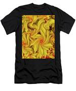 Swirly, Yellow Leaves Men's T-Shirt (Athletic Fit)