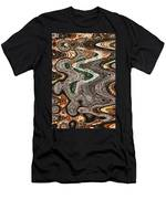 Sycamore Tree Abstract # 9283 Men's T-Shirt (Athletic Fit)