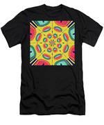 Textured Tropical Mandala Men's T-Shirt (Athletic Fit)