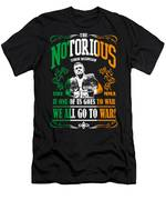 Th Notorious Conor Mcgregor Inspired Design If One Of Us Goes To War We All Go To War Men's T-Shirt (Athletic Fit)