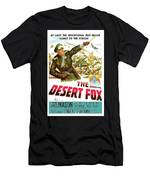 The Desert Fox  James Mason Theatrical Poster Number 3 1951 Color Added 2016 Men's T-Shirt (Athletic Fit)