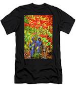 The Joys Of Autumn Camping - Paint Men's T-Shirt (Athletic Fit)