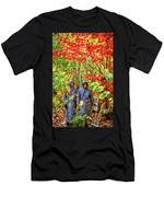 The Joys Of Autumn Camping Men's T-Shirt (Athletic Fit)