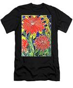 Three Red Blooms Men's T-Shirt (Athletic Fit)