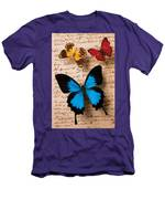 Three Butterflies Men's T-Shirt (Athletic Fit)