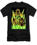 Three Yellow-black Irises, Painting Men's T-Shirt (Athletic Fit)