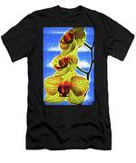 Three Yellow Orchid Blooms Men's T-Shirt (Athletic Fit)