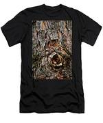 Tree Bark With Knothole Men's T-Shirt (Athletic Fit)