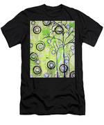 Tree Of Life Spring Abstract Tree Painting  Men's T-Shirt (Athletic Fit)