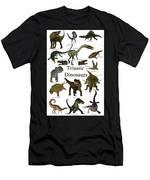 Triassic Dinosaurs Men's T-Shirt (Athletic Fit)