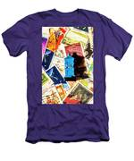 True Blue Postbox Men's T-Shirt (Athletic Fit)