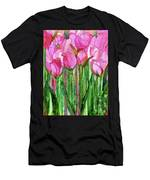 Tulip Bloomies 1 - Pink Men's T-Shirt (Athletic Fit)