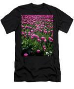 Purple Tulips Men's T-Shirt (Athletic Fit)