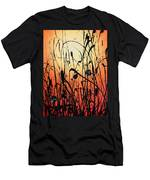 Two Orbs Meet In A Field At Sunset Men's T-Shirt (Athletic Fit)