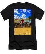 Union Jack Beach Hut 2 Men's T-Shirt (Athletic Fit)