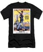 U.s. Marines Active Service On Land And Sea Men's T-Shirt (Athletic Fit)