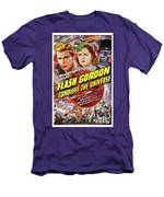 Vintage Movie Posters, Flash Godon Conquers The Universe Men's T-Shirt (Athletic Fit)