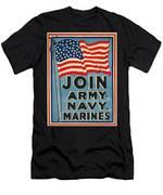 Vintage Recruitment Poster Men's T-Shirt (Athletic Fit)