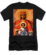 Virgin Mary Old Painting Men's T-Shirt (Athletic Fit)