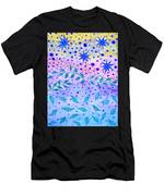 Watercolor Flowers And Leaves Men's T-Shirt (Athletic Fit)