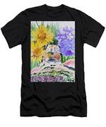 Watercolor - Pika With Wildflowers Men's T-Shirt (Athletic Fit) by Cascade Colors