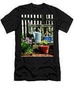 Watering Can And Blue Basket Men's T-Shirt (Athletic Fit)