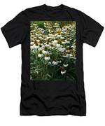 White Coneflower Field Men's T-Shirt (Athletic Fit)