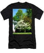 White Flowering Tree Men's T-Shirt (Athletic Fit)