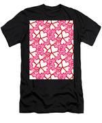 White Hearts - Valentines Pattern Men's T-Shirt (Athletic Fit)