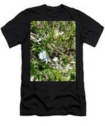 White Wild Flower Men's T-Shirt (Athletic Fit)