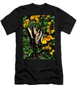 White Wing Butterfly Men's T-Shirt (Athletic Fit)