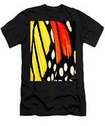 Wings Of A Monarch Butterfly Abstract Men's T-Shirt (Athletic Fit)