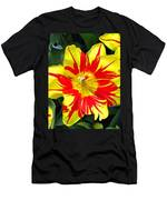 Yellow Red Flower Men's T-Shirt (Athletic Fit)